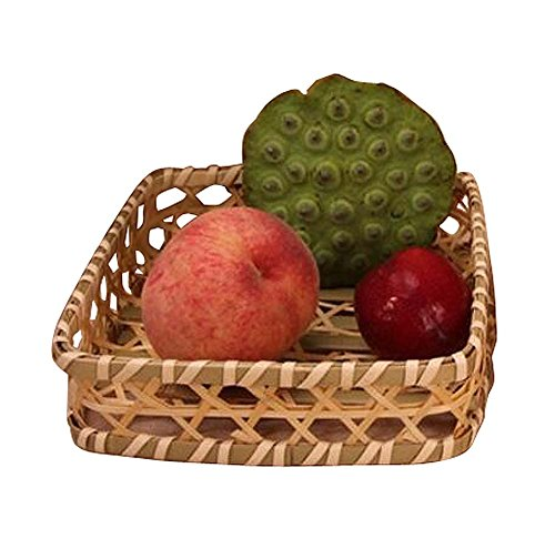 Bamboo Tableware Hotel Hot Pot Special Cutlery Fruit Basket-Square L