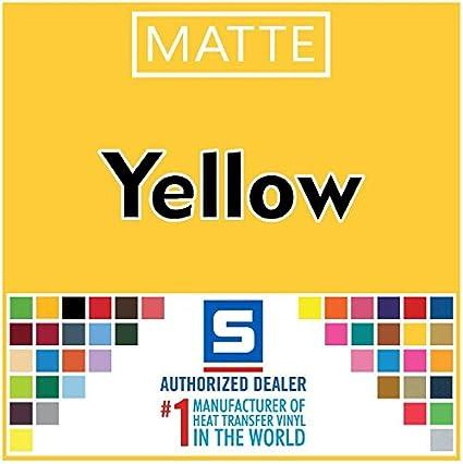 "Stahls/' Fashion-LITE Heat Transfer Vinyl HTV 15/"" x 5 Yards Yellow"