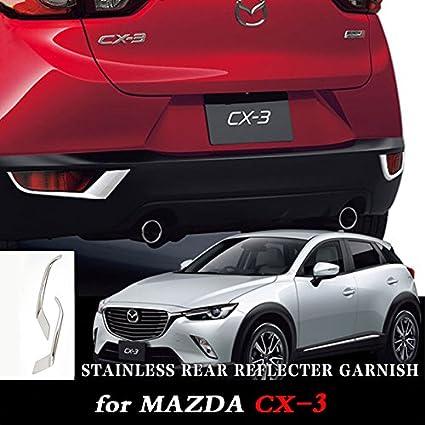 ABS Chrom/é Feu antibrouillard arri/ère lampe Coque Trim 2 pcs pour accessoire de voiture SKKD