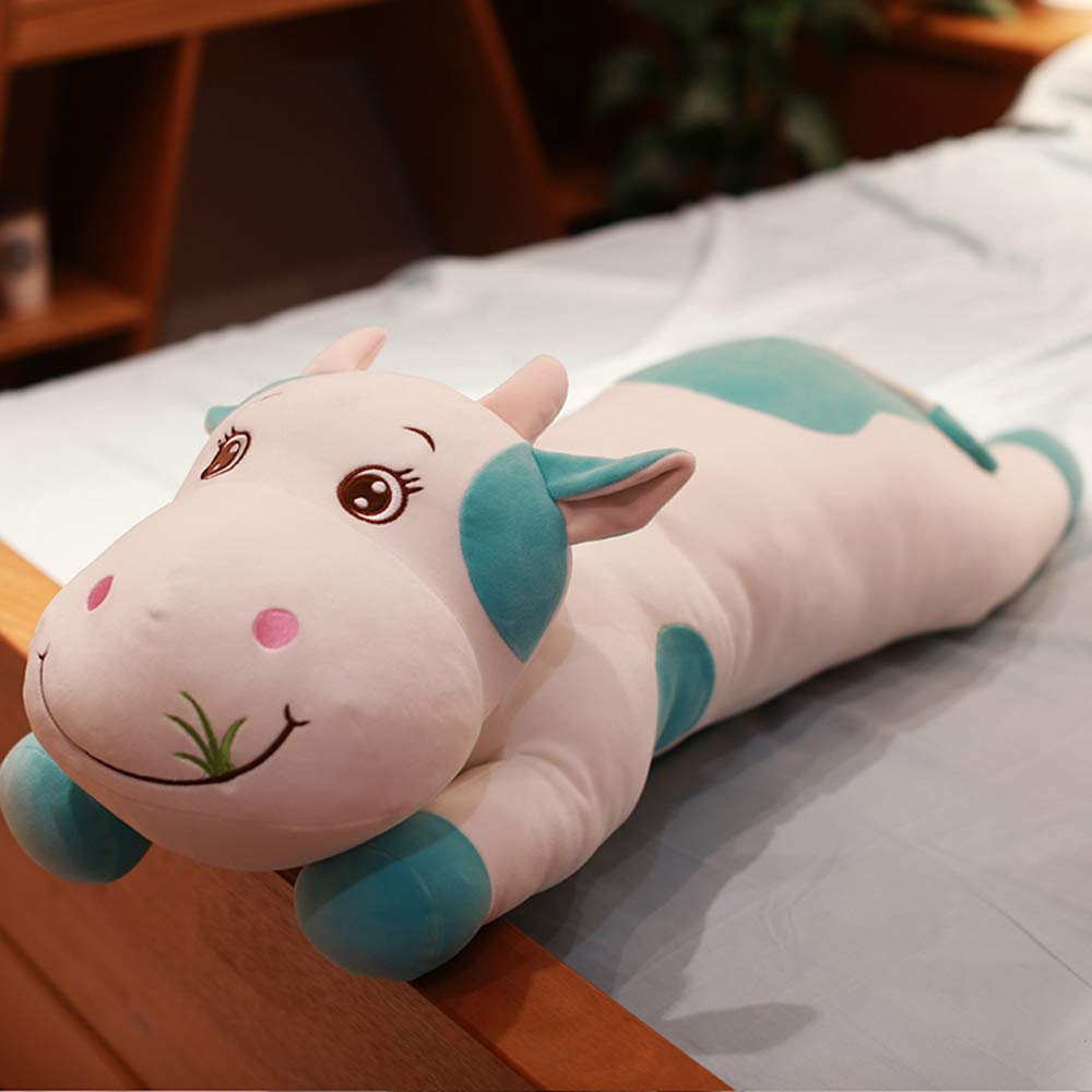 Vert D'armée 90cm  AHYYY Vache Mignonne Jouet poupée poupée Oreiller de Sommeil Long Oreiller lit Grande poupée Anniversaire Cadeau Fille,Army vert 1,4 mètres