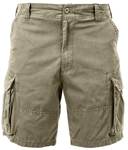 Bellawjace Clothing Khaki Military Vintage Army Paratrooper Shorts Cargo Shorts
