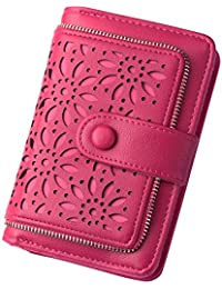 Women RFID Blocking Vintage Organizer Wallet for Ladies Small Purse with Multi Card Holder