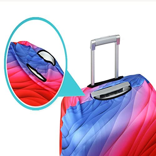 for 18-20 inch luggage Building, S Maysh Travel Luggage Cover Protector Baggage Suitcase Cover Protector Fits 18 to 32 Inch Luggage