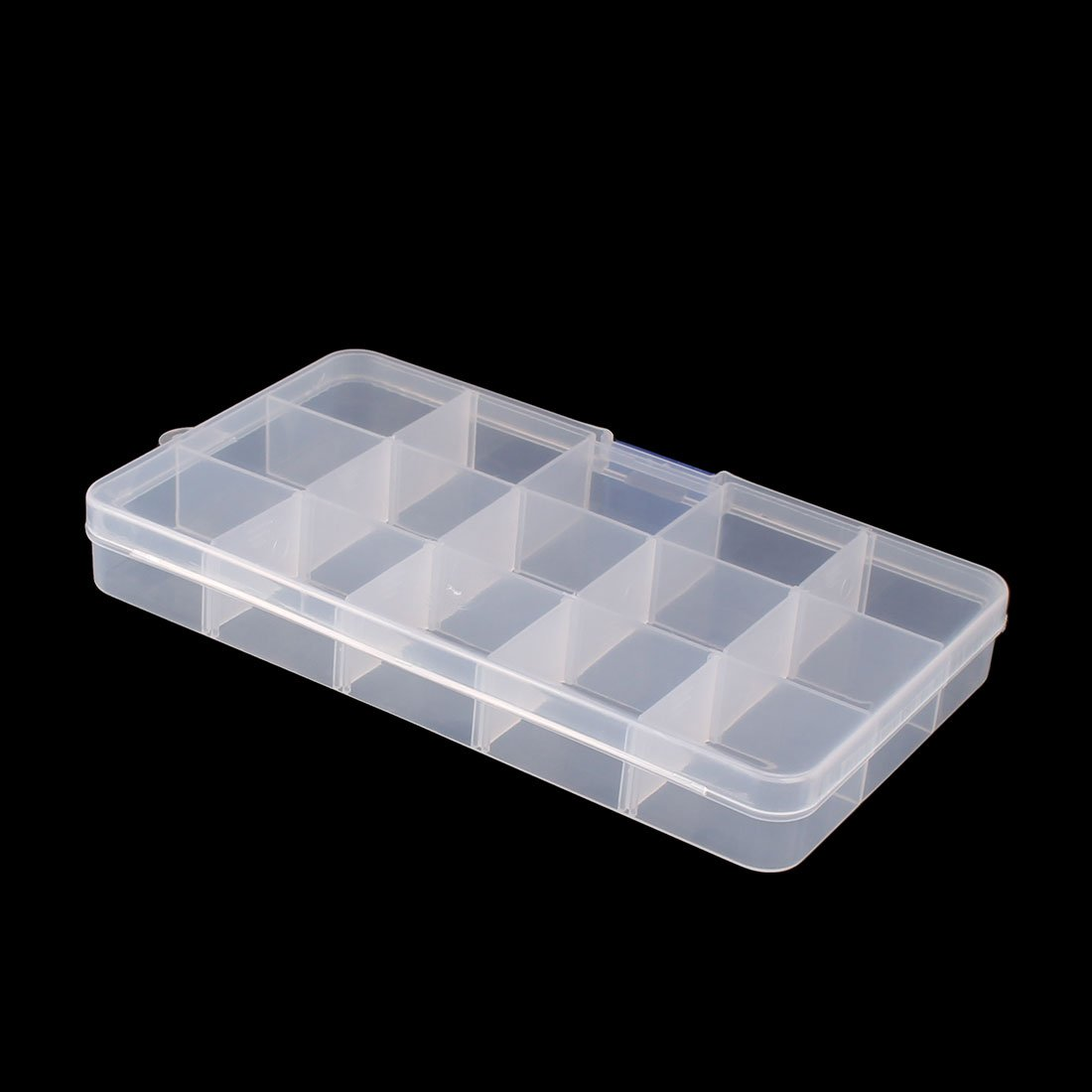 sourcingmap/® Haushalt Plastik 24 F/ächer Schmuck Ohrring Aufbewahrungsbox Kasten durchsichtig de