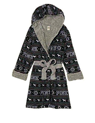 Victoria's Secret PINK Reversible Plush Holiday Robe (XS / S)