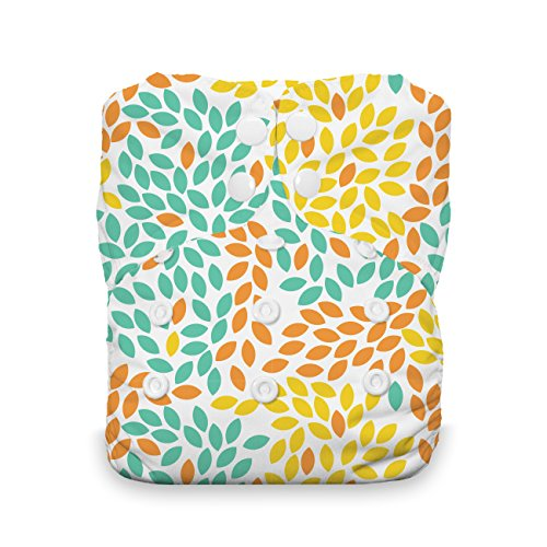 Thirsties One Size All In One Cloth Diaper, Snap Closure, Fallen Leaves