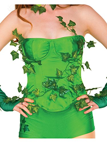 Rubie's Costume Women's DC Comics Poison Ivy Deluxe Corset with Ivy Leaves, Medium/Large ()