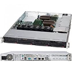 SUPERMICRO SuperChassis SC815TQ-600WB System Cabinet Rack-mountable - Black - 1U - 5 x Bay - 4 x Fan(s) Installed - 1 x 600 W - EATX Motherboard Supported / CSE-815TQ-600WB /