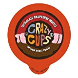 Crazy Cups Flavored Coffee, for the Keurig K Cups Coffee 2.0 Brewers, Chocolate Raspberry Truffle, 22 Count