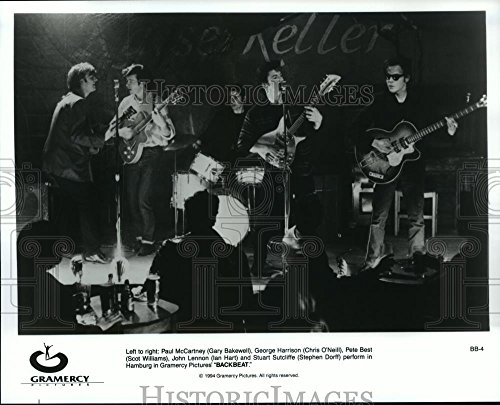 1994 Leader-writers Photo Gary Bakewell, Chris O'Neill and Steven Dorff in Backbeat.