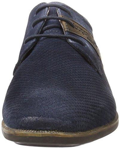 Bugatti 311189031400, Zapatos de Cordones Derby para Hombre Azul (Dark Blue 4100)