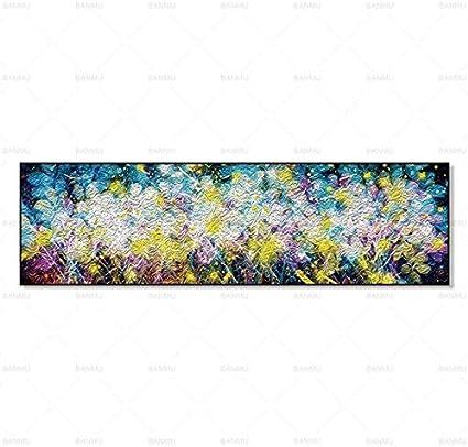 N / A Pintura de la Lona póster Imagen de la Pared decoración Pintura Sala de Estar Pintura Abstracta de la Pared Sala de Estar Sin Marco 25cmx85cm
