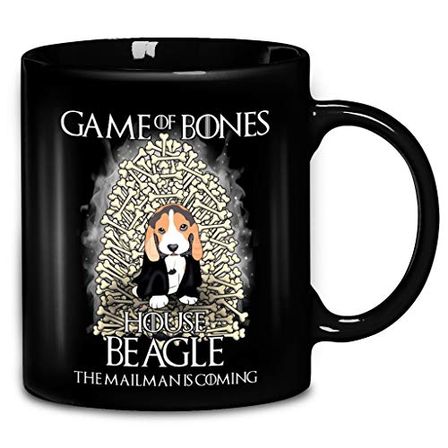 (Games Of Bones House Beagle The Mailman Is Coming Coffee Mug 11oz & 15oz Ceramic Tea Cups)