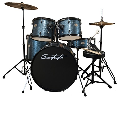 Rise by Sawtooth Full Size Student Drum Set with Hardware...