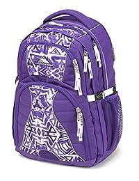 High Sierra 53665-4945 Swerve Backpack, Deep Purple/Shibori/White, International Carry-On