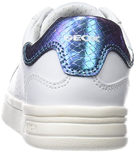 para a J Blanco Niñas Geox White Zapatillas Djrock wYIqPE