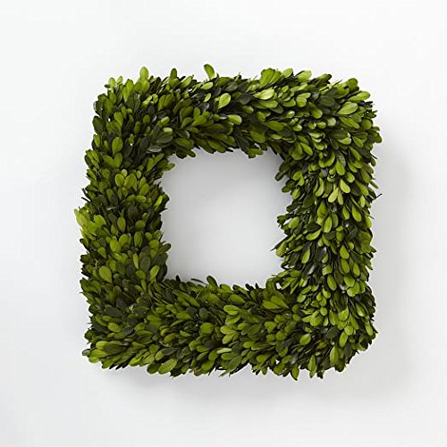 (Tradingsmith Preserved Boxwood Square Wreath 16 in)