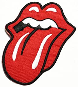 Rolling Stones patches 7.5x9 cm music patches embroidered iron on patch
