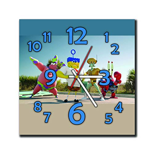mV Spongebob 11.4'' Handmade Wall Clock - Get Unique décor Home Office – Best Gift Ideas Kids, Friends, Parents Your Soul - Spongebob Squinkies