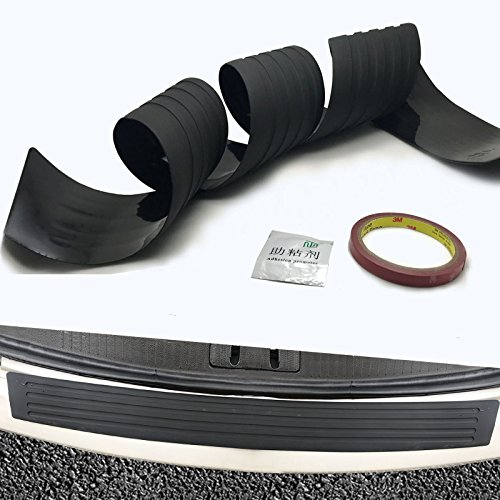 YaaGoo Car Trunk Rubber Bumper Protector 41″ Strip Rear Guard Trim Easyinstall 104cm Black