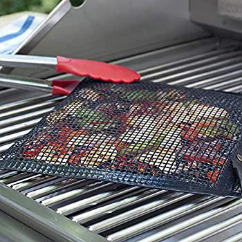 Ardorlove Non-Stick Mesh Grilling Bag - High Temperature Barbecue Sheets Pockets - Toaster Oven Bags - Mesh Bag for Grill,PTFE