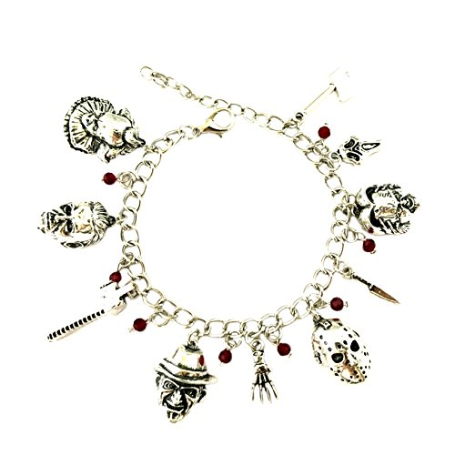 Horror Classic Scary Movies Charm Bracelet Jewelry Series w/Gift Box]()