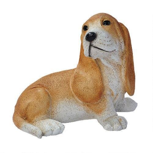 Brown Bassett Puppy Statue Design Dogs Puppies Dog Breeds Canine Pet ()