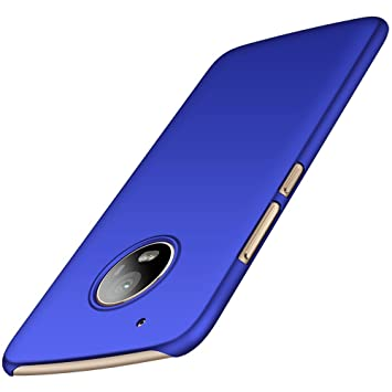anccer Funda Moto G5 Plus Case [Serie Colorida] [Ultra Delgado] [Anti-Drop] ultrafin Premium Carcasa (Azul Liso)