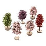 Springtime Promo Trees Set of 6 Village Accessories
