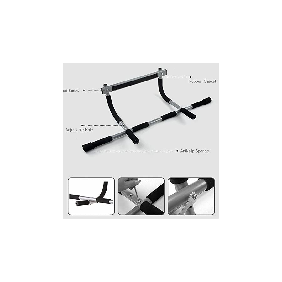 Yosoo Multi Grip Chin Up/Pull Up Bar Heavy Duty Doorway Chin Pull Up Bar Exercise Fitness Gym Home Door Mounted Trainer Plus