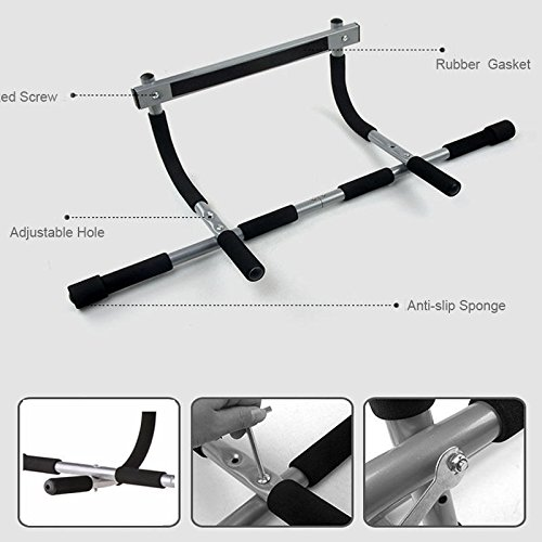 Multi Grip Chin Up/Pull Up Bar Heavy Duty Doorway Chin Pull Up Bar Exercise Fitness Gym Home Door Mounted Trainer Plus