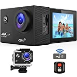 BUIEJDOG Action Camera, 16MP 4K HD Sport Camera WiFi Waterproof Action Cam, Remote - Best Reviews Guide