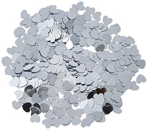 Fanci Fetti Hearts silver Party Accessory