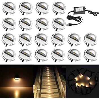 Fvtled pack of 10 warm white low voltage led deck lights kit 138 qaca 20 pack led stair lights kit low voltage waterproof ip65 outdoor 1 2 mozeypictures Image collections