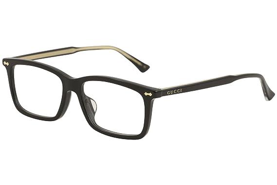 4e0a7ee666a Amazon.com  Eyeglasses Gucci GG 0191 OA- 001 BLACK    Clothing