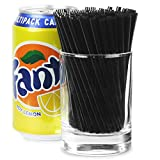 Frappe Cocktail Straws 4inch Black - Box of 1000   4 Inch Cocktail Straws