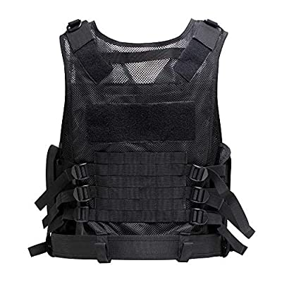 Himal Tactical Vest for Men,600D Encryption Polyester Military Vest Adjustable Lightweight Combat Vest