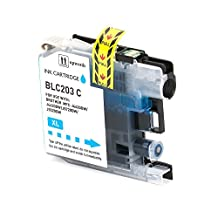 SaveOnMany ® Brother LC201 LC203 XL Cyan LC 203 201 LC203XL / LC-203-XL / LC-203XL C High Yield LC203C LC-203-C LC-203C-XL LC203XLC LC201C LC201XL LC201C-XL New Compatible Ink Cartridge For BROTHER201 BROTHER203 MFC-J4320DW MFC-J4420DW MFC-J460DW MFC-J4620DW MFC-J480DW MFC-J485DW MFC-J5520DW MFC-J5620DW MFC-J5720DW MFC-J680DW MFC-J880DW MFC-J885DW