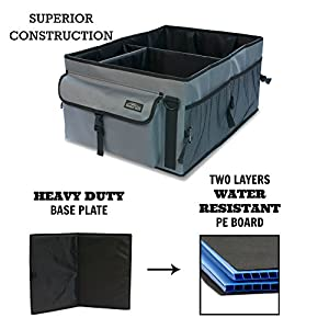 Mainly Auto Trunk Organizer Heavy Duty Cargo Storage Box For Car Truck SUV