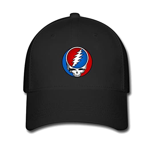 Custom Grateful Dead Rock Band Steal Your Face Baseball Caps Adjustable Hats  at Amazon Men s Clothing store  c1b12140098