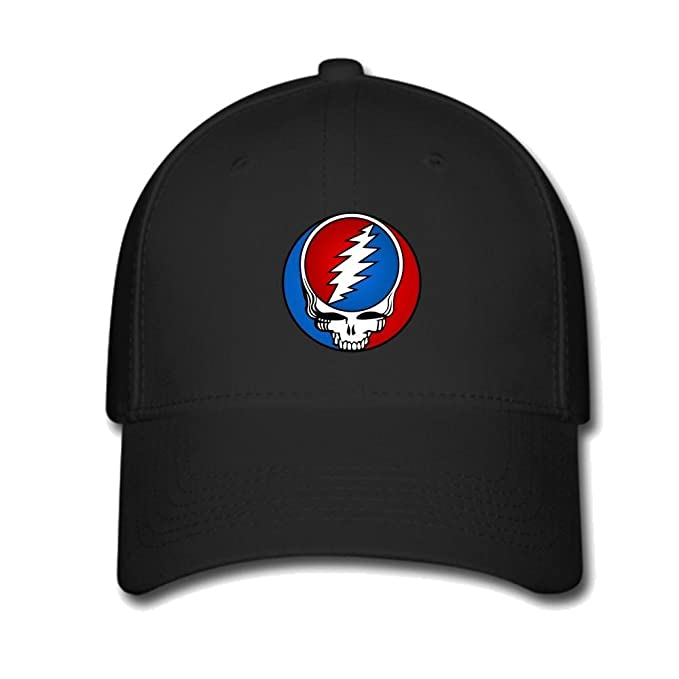 2fed58f4ec270 Custom Grateful Dead Rock Band Steal Your Face Baseball Caps Adjustable Hats  at Amazon Men's Clothing store: