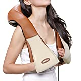 ZERLA Kneading Heated Massager - Chair Massage Pad for Car, Home or Office - 8 Shiatsu Massage Heads Target Neck, Shoulders, Back and Feet - Safe, Relaxing Heated Cushion Helps Relieve Muscle Tension