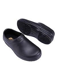 Unisex Slip Resistant Work Shoes Anti-Slip Work Safety SensFoot Black Clog