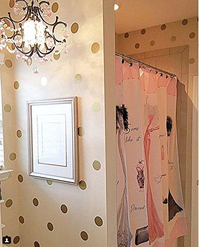 Mural Dot Polka (Create-A-Mural 100 Gold Wall Dots! Metallic Gold Polka Dot Wall Decals)