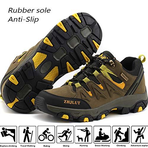 Lvptsh Chaussures de Randonnée pour Hommes Bottes de Randonnée Bottes de Trekking Antidérapantes Bottes d'escalade… 2