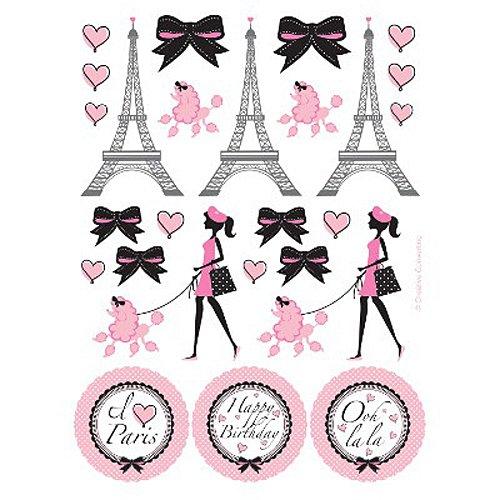 Paris Party Sticker Favors (4 (Paris Themed Party Costume Ideas)