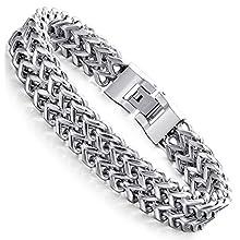 Men's Stainless Steel Two-strand Chain Bracelet