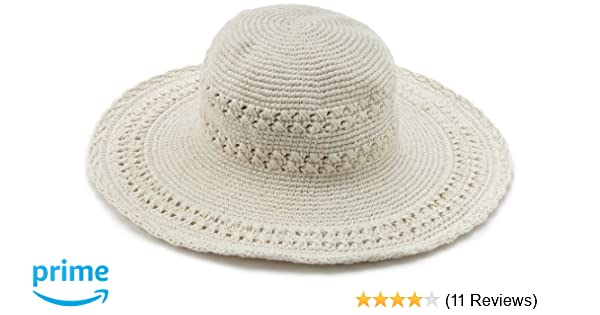 06d08efe San Diego Hat Company Women's Cotton Crochet Hat, Natural, One Size at  Amazon Women's Clothing store: Sun Hats