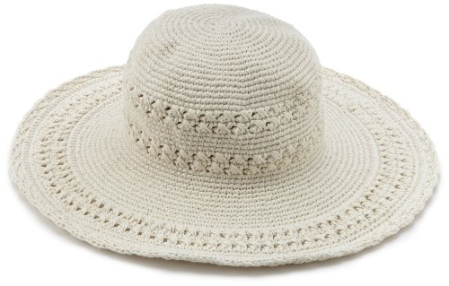 San Diego Hat Company Women's Cotton Crochet Hat, Natural, One Size