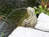 Sitting Frog Pond Spitter -stone statue/sculpture-water garden accent- Great Garden Gift Idea!